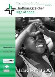 Jahresbericht Verein - Hoffnungszeichen eV