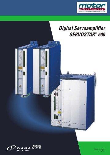 Digital Servoamplifier SERVOSTAR 600 - Motor Technology Ltd