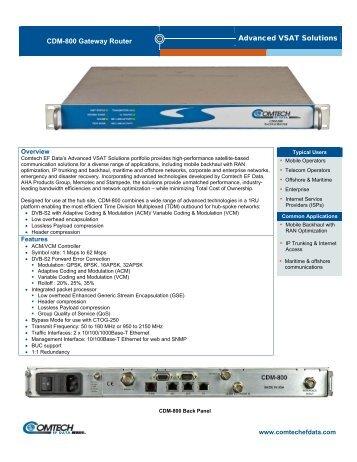 CDM-800 Gateway Router - Comtech EF Data