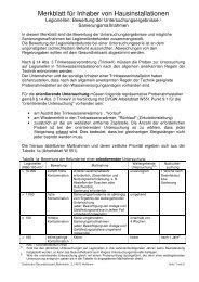 Merkblatt für Inhaber von Hausinstallationen - Legionellen ...