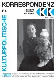 Ausgabe 1316 als PDF zum Download - Kulturportal West Ost