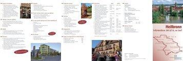 Heilbronn - Informations 2012/13, en bref - Stadt Heilbronn