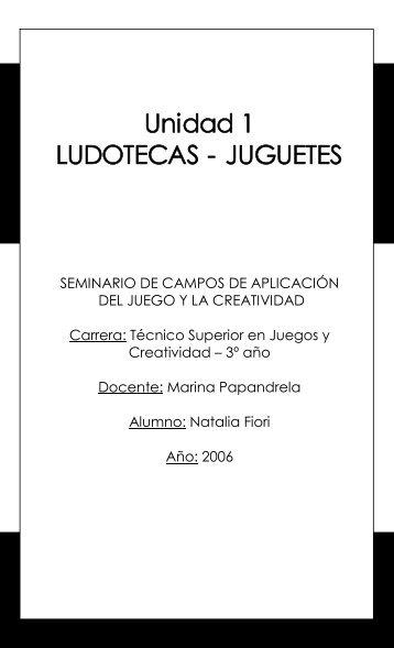 Unidad 1 LUDOTECAS JUGUETES - estudio inés moreno
