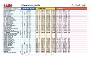 8710 Lübeck - Ratzeburg - Mölln (PDF, 157KB) - Bahn.de