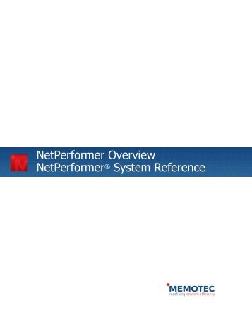 NetPerformer Overview System Reference ... - Comtech EF Data