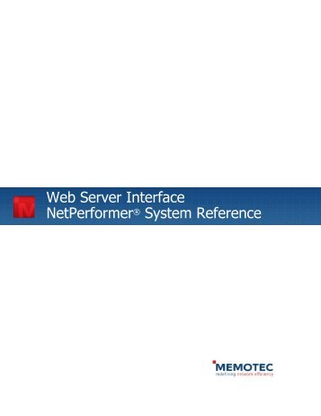 Web Server Interface NetPerformer® System ... - Comtech EF Data