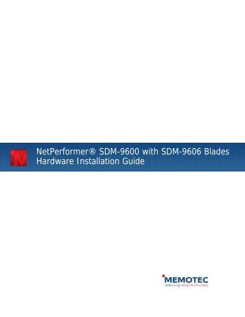 NetPerformer® SDM-9600 with SDM-9606 ... - Comtech EF Data