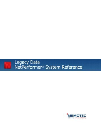 Legacy Data System Reference - Comtech EF Data