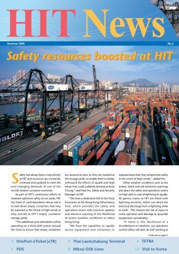 Safety resources boosted at HIT - Hongkong International Terminals