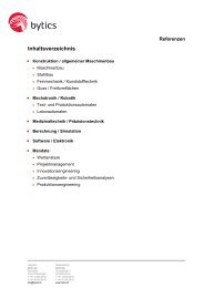 Entwicklung / Konstruktion - bytics AG