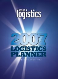 2007 Logistics Planner - Inbound Logistics