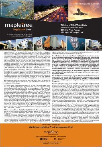 Untitled - Mapletree Logistics Trust