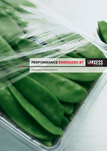 PERfoRMaNcE ENERGIzEd BY - LANXESS