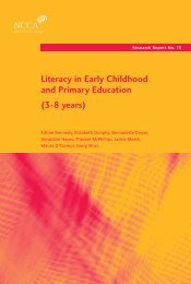 Literacy in Early Childhood and Primary Education (3-8 years) - NCCA