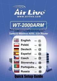 AirLive WT-2000ARM Quick Setup Guide