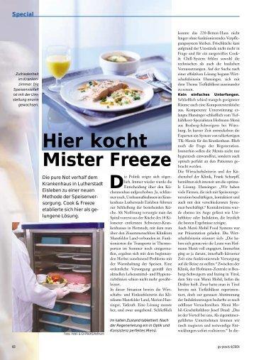 Hier kocht Mister Freeze - Hofmann Menü