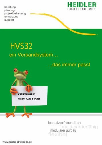 Fracht-Avisierung Beschreibung - Heidler Strichcode GmbH