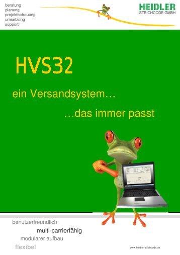 Infomappe HVS32 - Heidler Strichcode GmbH