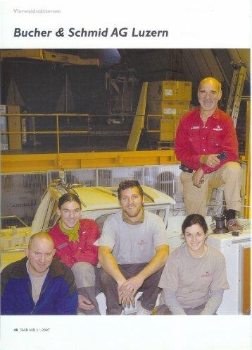 Bucher + Schmid Bootswerft AG aus dem Swissmotorboat Teil