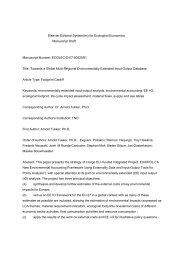 Elsevier Editorial System(tm) for Ecological Economics Manuscript ...