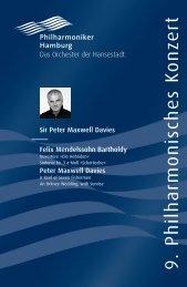 IX. Philharmonisches Konzert - Philharmoniker Hamburg