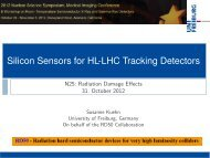 Silicon Sensors for HLLHC Tracking Detectors - CERN RD50