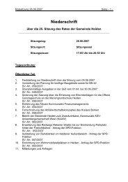 Rat Niederschrift 28.08.2007 - in der Gemeinde Heiden
