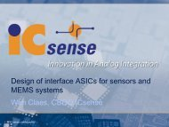 Design of interface ASICs for sensors and MEMS ... - Europractice IC