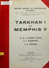Tarkhan I and Memphis V