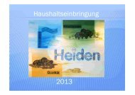 Dokumentation zur Haushaltsrede von - in der Gemeinde Heiden