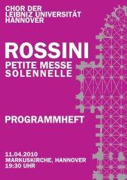 petite messe solennelle programmheft - Chor der Leibniz Universität ...