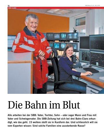 Alle arbeiten bei der SBB: Vater, Tochter, Sohn – oder sogar Mann ...
