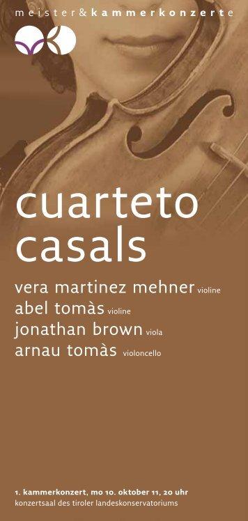 cuarteto casals - Meister & Kammerkonzerte