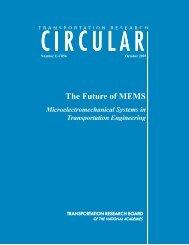 Transportation Research Circular - The Future of MEMS - NDT.net