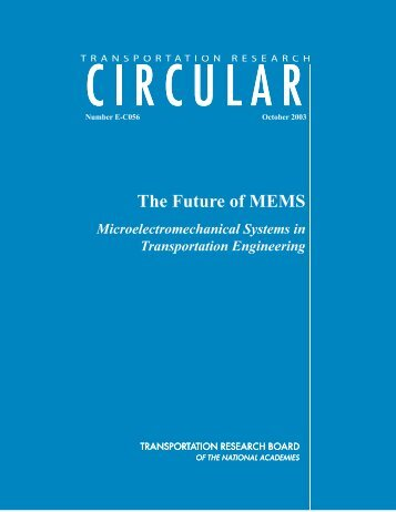 Transportation Research Circular - The Future of MEMS - NDT.net