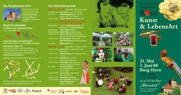Kunst & LebensArt Das Burgmuseum Horn Das Rahmenprogramm ...