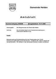Amtsblatt Nr: 08/2008 vom 19.11. - in der Gemeinde Heiden