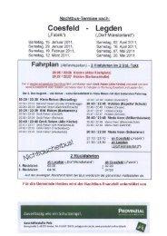 Nachtbustermine 1. Halbjahr 2011 - in der Gemeinde Heiden