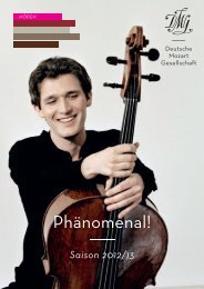 DMG | Saison 2012/13 - Deutsche Mozart-Gesellschaft eV