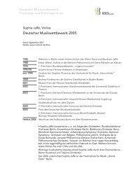 Deutscher Musikwettbewerb 2005 - Zum Musikrat