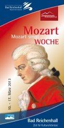 Komplettes Programm Mozartwoche - Berchtesgadener Land