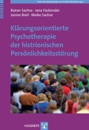 Klärungsorientierte Psychotherapie der histrionischen ... - Hogrefe