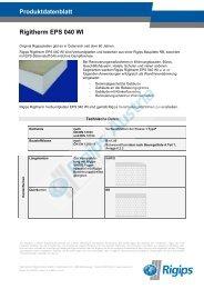 Produktdatenblatt Rigitherm EPS 040 WI - Rigips