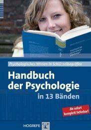 Handbuch der Psychologie - Hogrefe