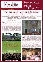 Konzertreise Paris 9-2011 - Bremer RathsChores