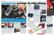 Autobatterie:So bringt sie volle Leistung - auf Hartje
