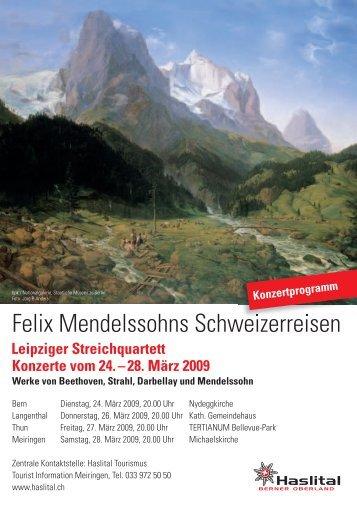 Felix Mendelssohns Schweizerreisen