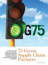 G75 2011: Inbound Logistics Green Supply Chain Partners