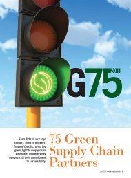 G75 2011: Inbound Logistics Green Supply Chain Partners