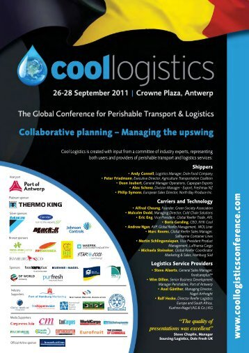 CL A4 (linked) flyer - Cool Logistics Conference